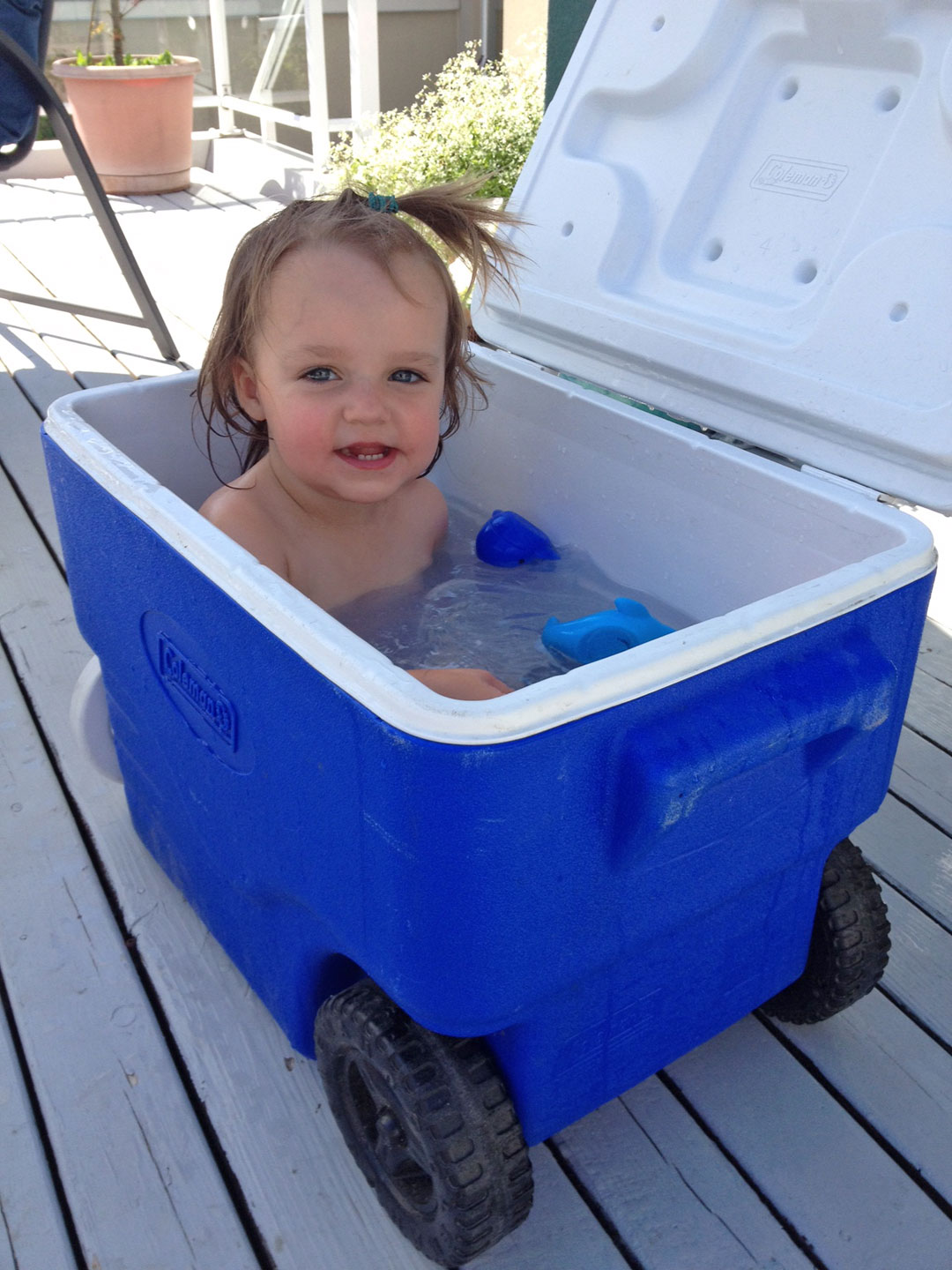 camping bath cooler tub