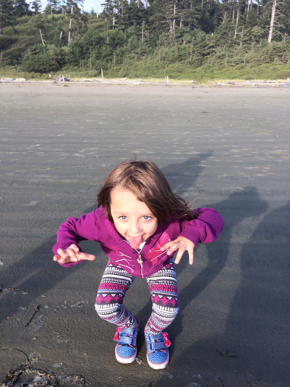 pnw kid at Tofino beach