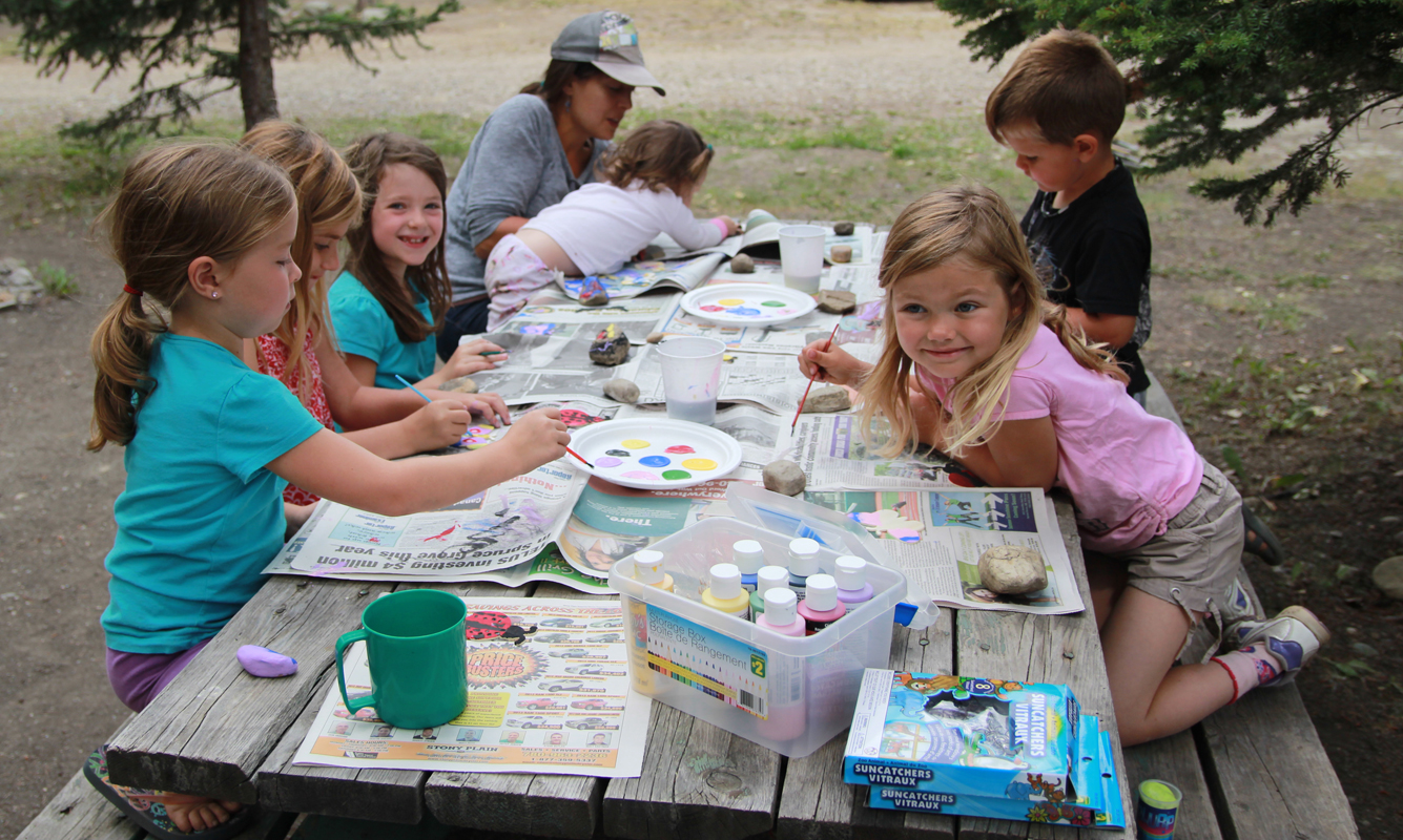 kids crafts camping