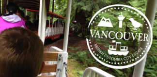 Vancouver family trip stanley park train
