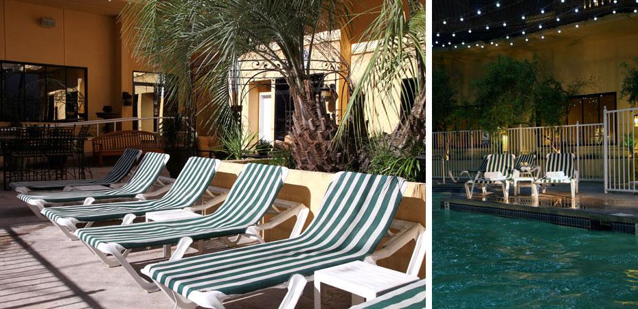 pool and chairs at jockey club las vegas