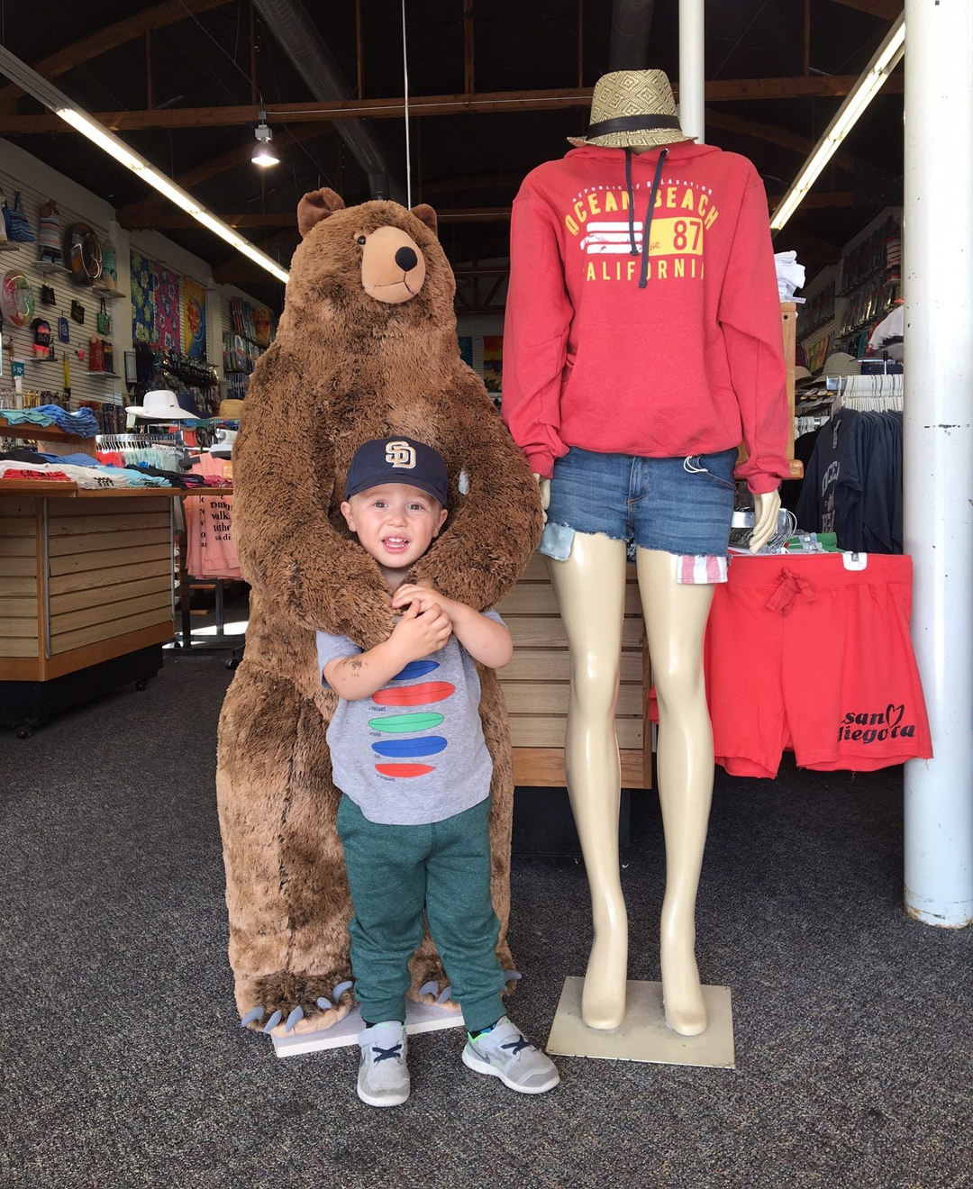 ocean beach san diego shopping bear