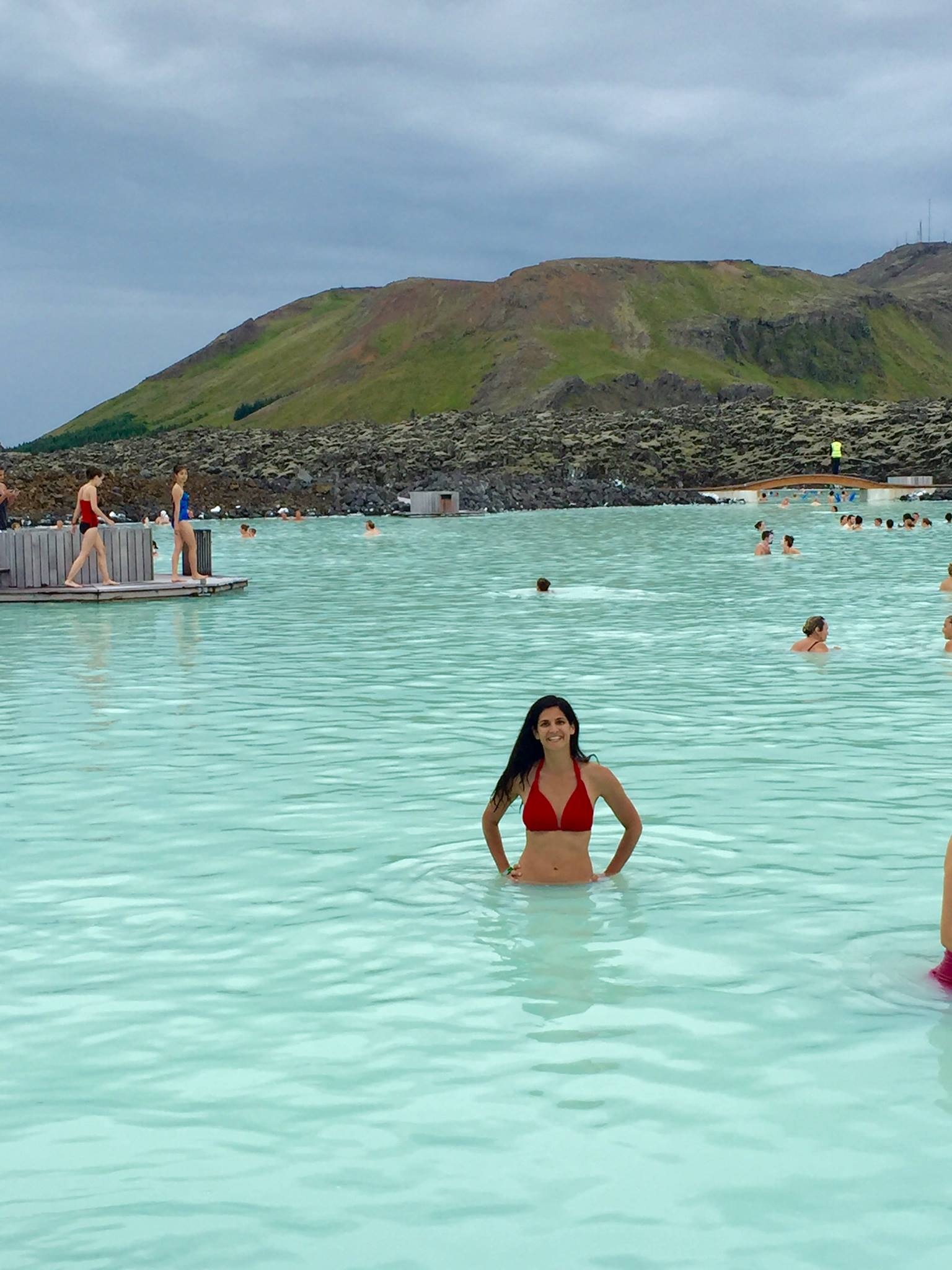 mom time at iceland blue lagoon