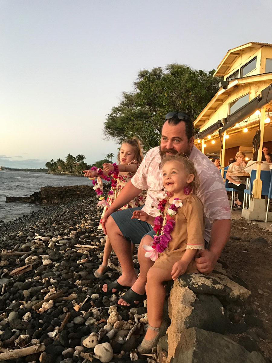 toddlers having fun at beach maui hawaii