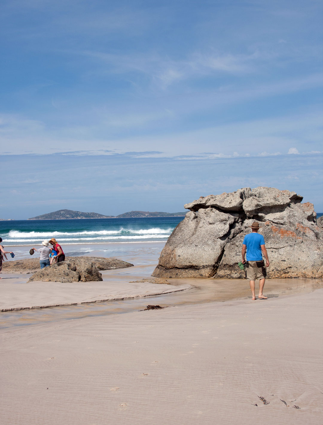 walking on the beach Wilsons Promontory National Park Australia