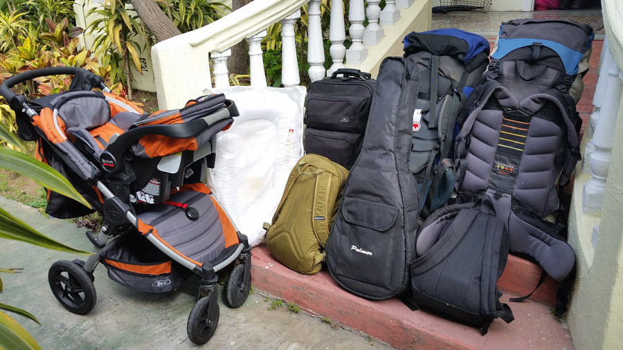 our gear for 6 weeks in costa rica with a baby