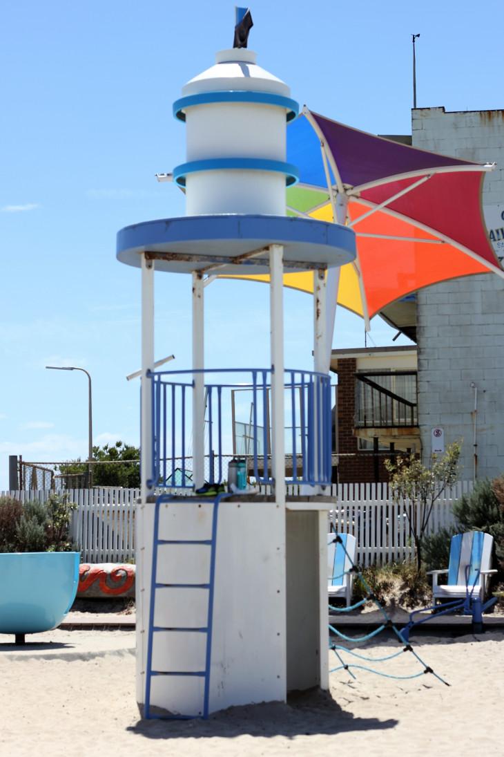 playground climbing lighthouse carrum beach australia