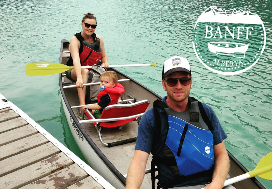 banff alberta canoeing canada family vacation camping