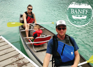 banff alberta canoeing canada family vacation camping