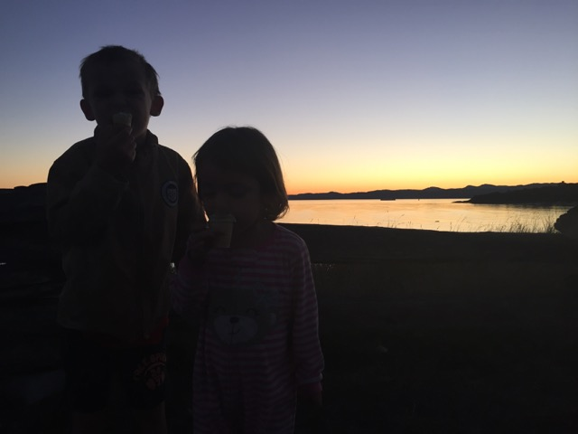 kids camping sunset gulf islands bc