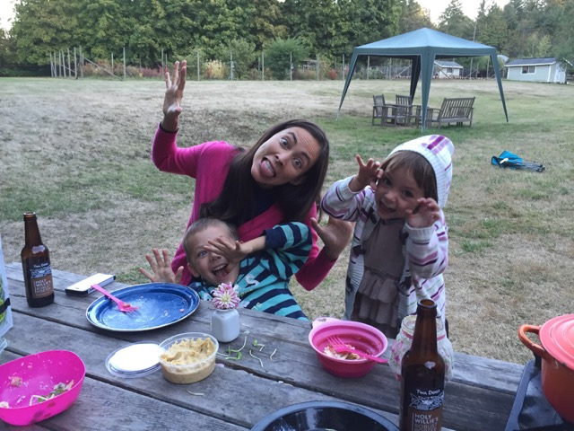 picnic dinner travel with kids vancouver island