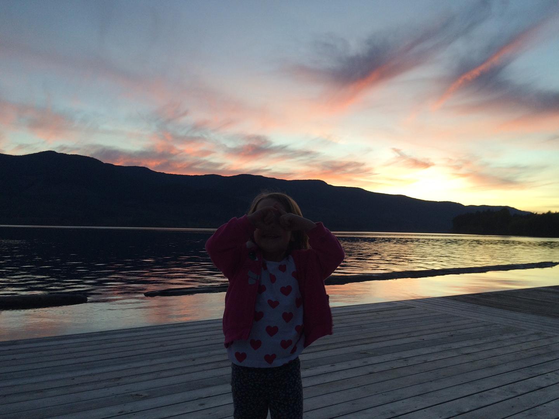 sunset arbutus park youbou cowichan lake dock