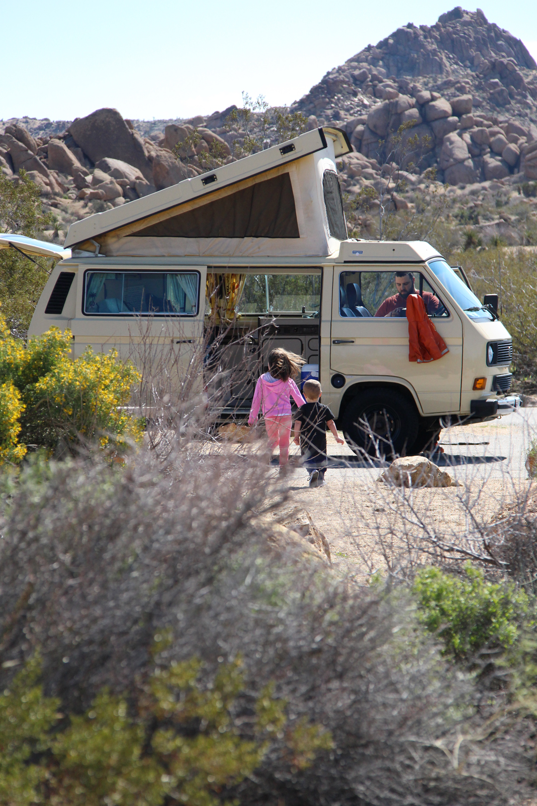 cottonwood springs campground vw van