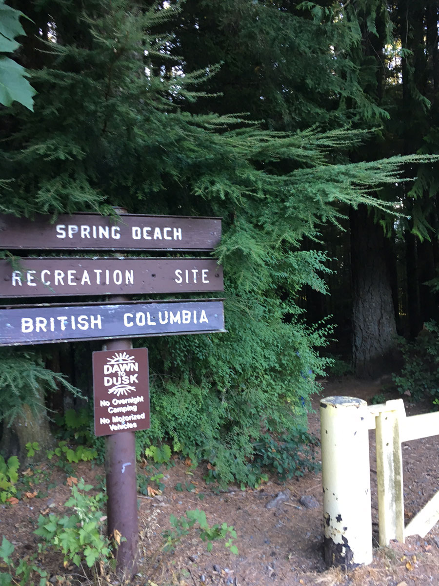 spring beach trailhead cowichan lake bc