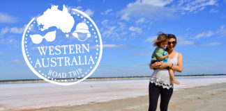 western australia family road trip beach mom baby passport stamp